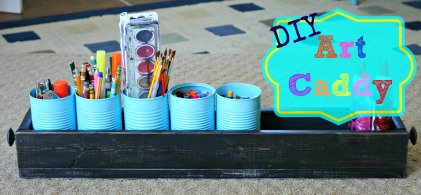 DIY Kids Art Caddy
