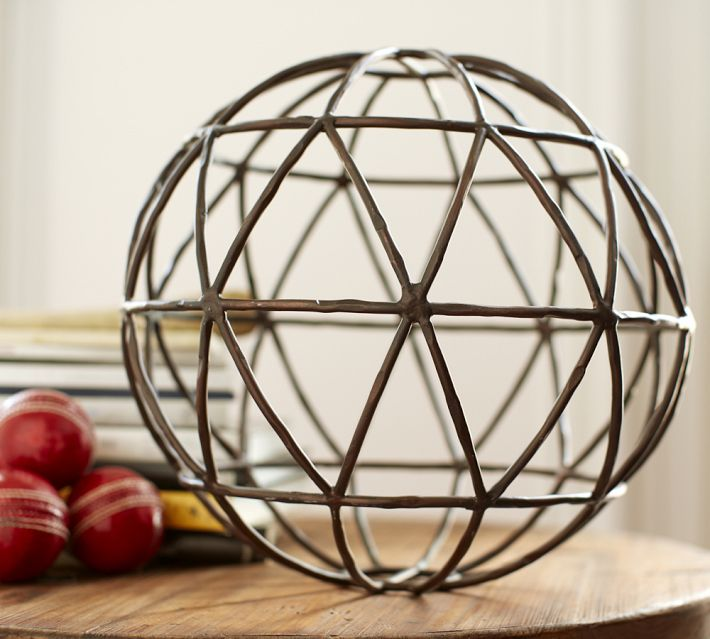 rustic look from pottery barn - Decorative Orbs