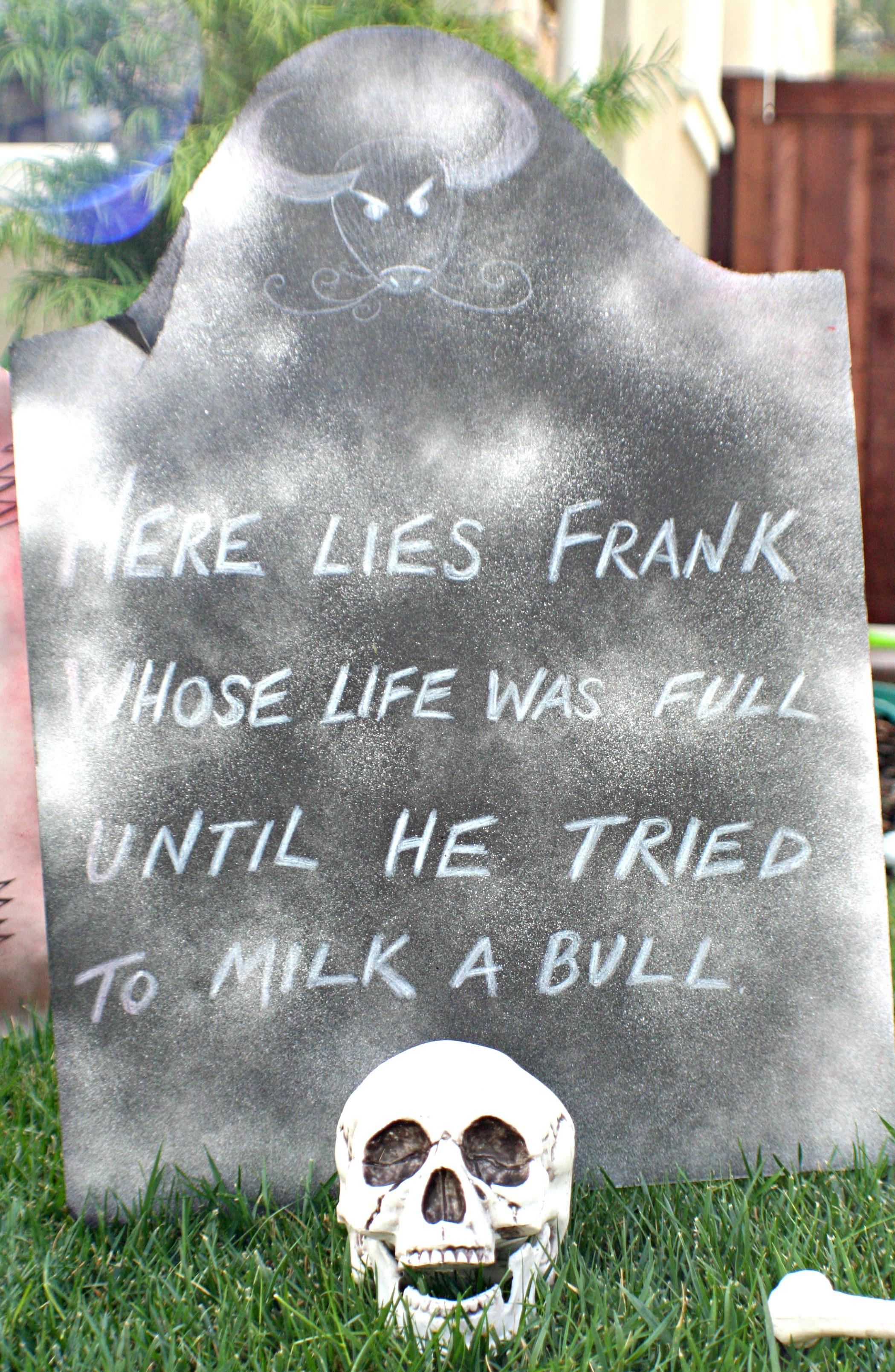 diy funny halloween tombstones |