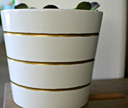 IKEA vase_gold stripes