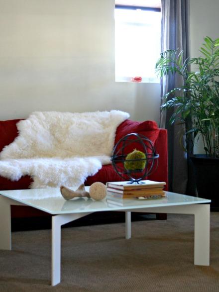 living rm rug drapes